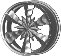 Mizati S835 replacement center cap - Wheel/Rim centercaps for Mizati S835